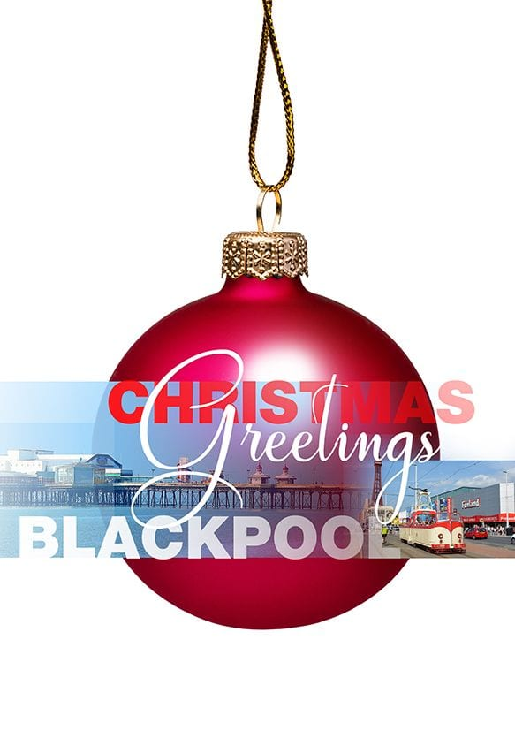 Christmas Card - Bauble from Blackpool