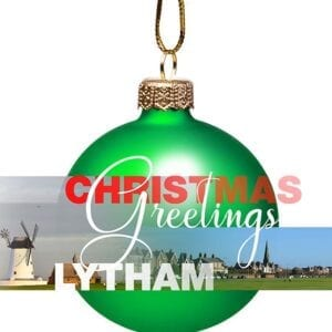 Christmas Card - bauble From Lytham