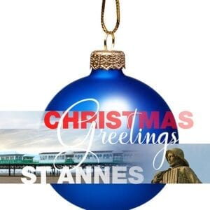 Christmas Card - Bauble from St Annes