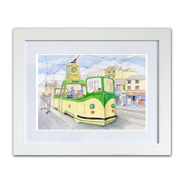 Boat Tram Watercolour painting from Seaside Emporium