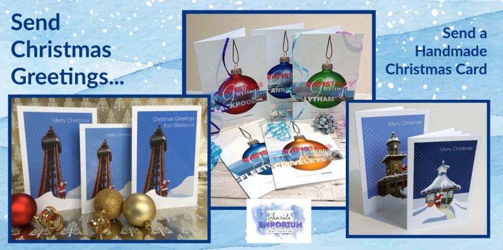 Handmade Fylde Coast Christmas cards from Seaside Emporium
