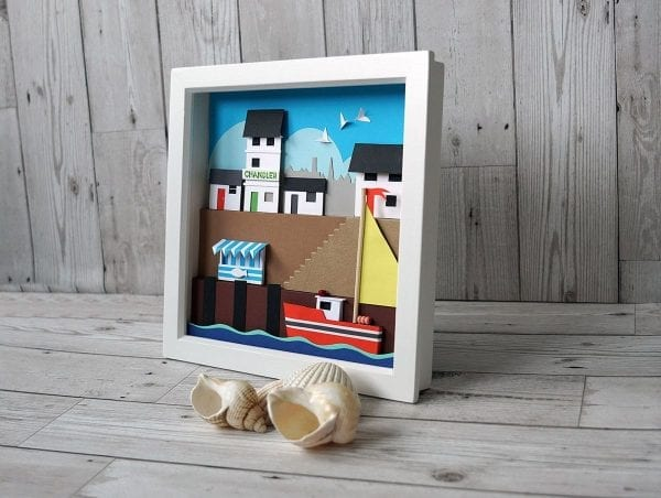 The Chandler, cut paper 3 dimensional picture from Seaside Emporium