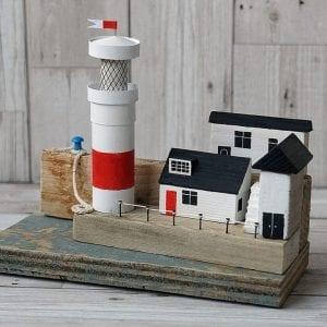 Lighthouse on the Quay, handmade art from Seaside Emporium
