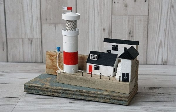 Lighthouse on the Quay, handmade art from Seaside Emporium