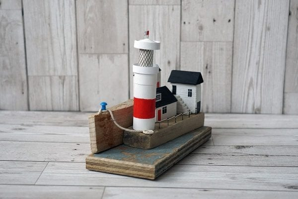 Lighthouse on the Quay handmade art from Seaside Emporium - end view