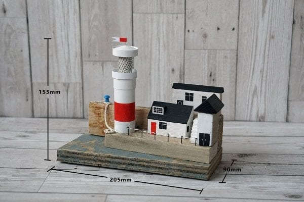 Size of Lighthouse on the Quay from Seaside Emporium