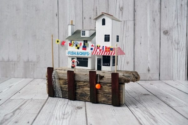 Quayside Gala, handmade driftwood model from Seaside Emporium
