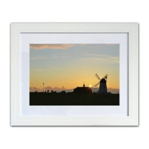 Photographic print of Sunset over the Windmill on Lytham Green from Seaside Emporium
