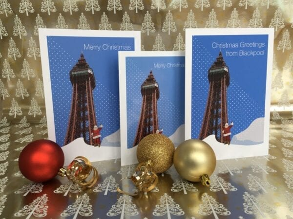 Christmas Card – Greetings from Blackpool (Tower)