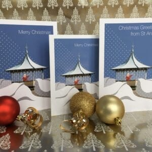 Christmas Card - Greetings from St Annes from Seaside Emporium