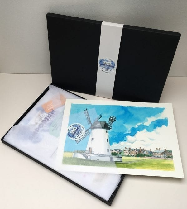 Collectors box with a print inside