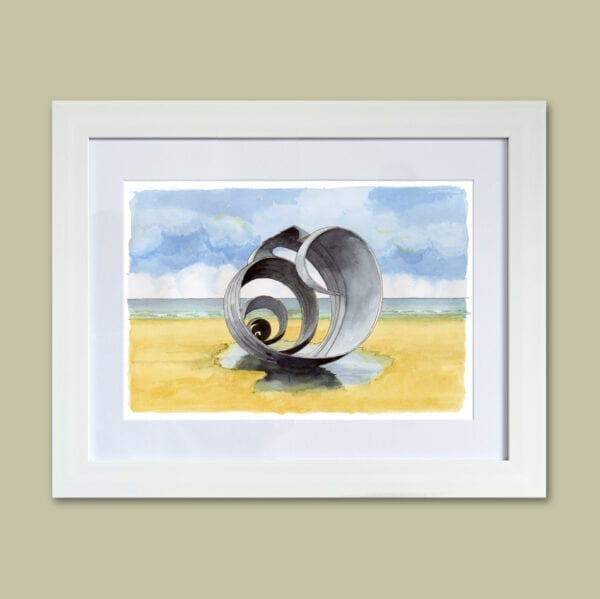 Painting of Mary's Shell on Cleveleys beach, from Seaside Emporium