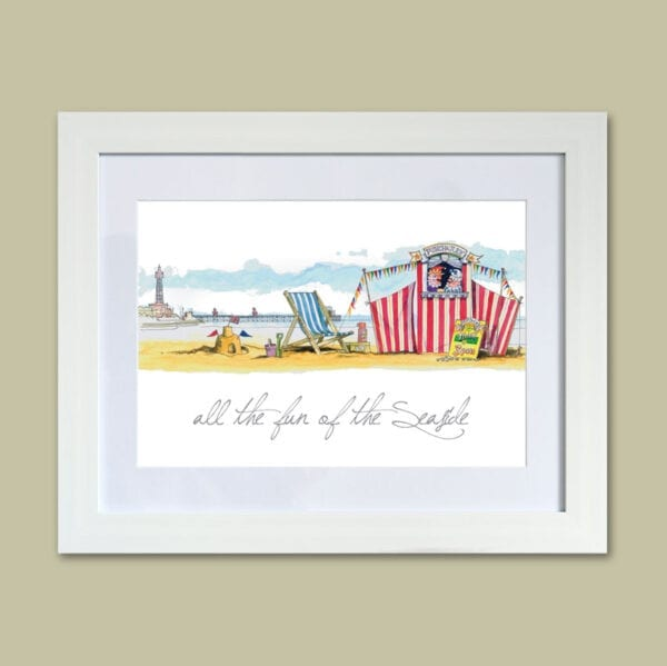All the Fun of the Seaside (Punch and Judy) - original watercolour painting from Seaside Emporium